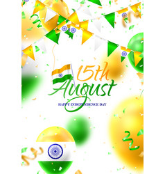Poster happy independence day in india vector