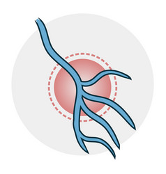 problems with veins icon vector image