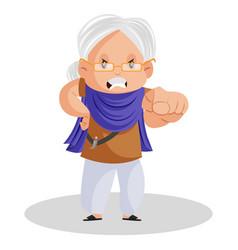 Punjabi woman cartoon character vector