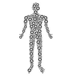 real estate man figure vector image