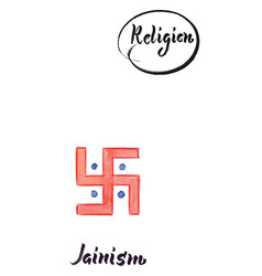 religious sign-jainism vector image