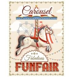 Retro Carousel Poster vector image