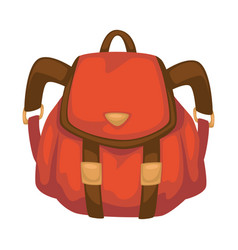 rucksack for traveling or carrying personal vector image