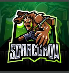scarecrow esport mascot logo design vector image