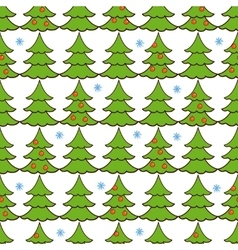 seamless pattern christmas tree vector image