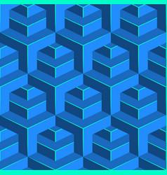 seamless volumetric pattern isometric geometric vector image