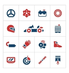 Set color icons karting vector