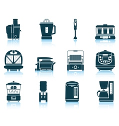 Set of kitchen equipment icons vector