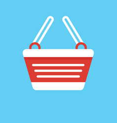 shopping cart flat design graphic elements vector image