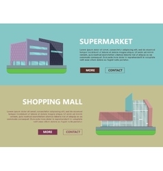Shopping Mall Web Templates in Flat Design vector
