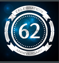 sixty two years anniversary celebration with vector image