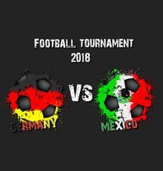 soccer game germany vs mexico vector image
