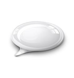 Speech bubble white vector