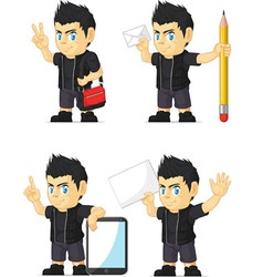 Spiky Rocker Boy Customizable Mascot 18 vector image