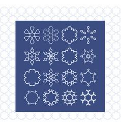 stylish creative geometric signs modern style vector image