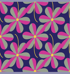 stylized flowers seamless pattern repeat on vector image