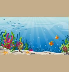 underwater landscape vector image