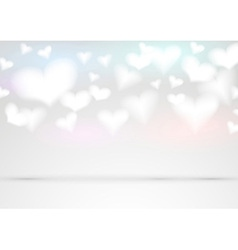 Valentine fluffy hearts background vector image