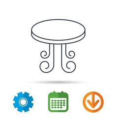 Vintage table icon furniture desk sign vector