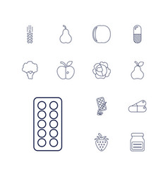 vitamin icons vector image