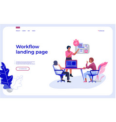 workflow landing page office people team vector image