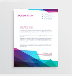 creative vibrant letterhead design vector image vector image