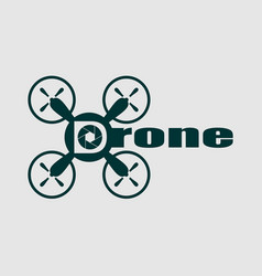 drone quadrocopter icon aperture symbol vector image vector image