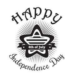 happy independence day of america vector image vector image