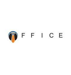tie office business logo vector image