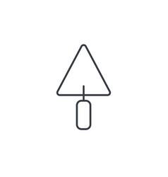 trowel tool thin line icon linear symbol vector image vector image