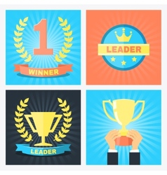 winner badges vector image vector image