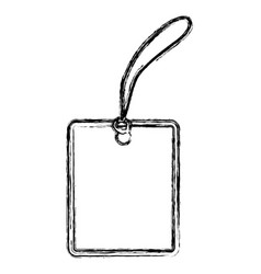 blank shopping label tag vector image vector image