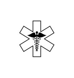 caduceus line icon medicine and health sign vector image