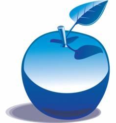 chromed apple vector image