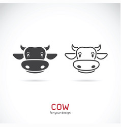 cow face design on white background farm animals vector image
