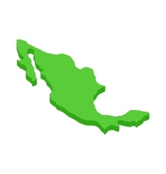 Mexico map icon isometric 3d style vector image