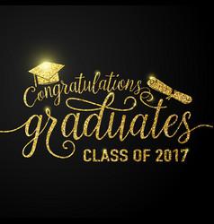 on black graduations background vector image