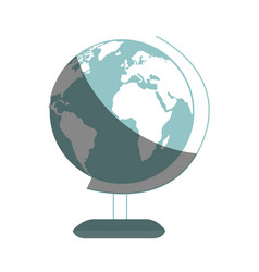 planet school isolated icon vector image