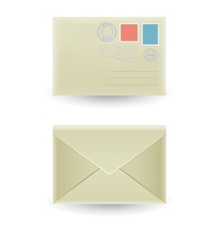 The closed envelope vector image vector image