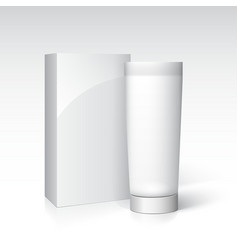 Box and tube of cream Ready for your design vector image vector image