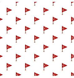 Table flag of turkey pattern vector
