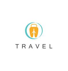 travel bag logo vector image