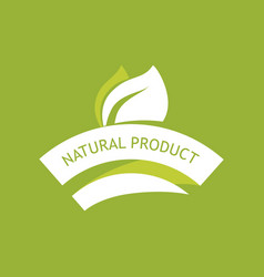 eco emblem - natural product vector image vector image