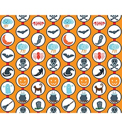 Halloween set orange pattern vector