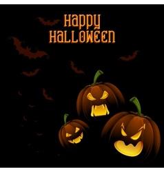 Jack-o-lantern Pumpkin in Halloween night vector image vector image