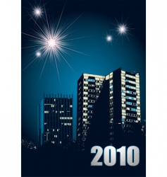 new year 2010 fireworks vector image vector image
