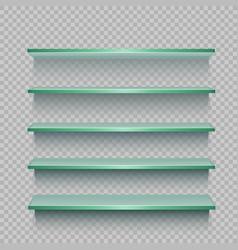 store glasses showcase template vector image