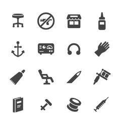 Tattoo and Piercing Icons vector image