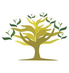 Tree of open hands vector image