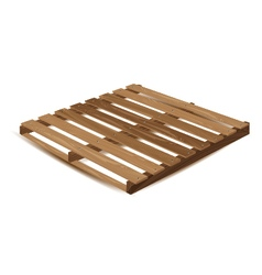Wooden pallet Wooden pallets to transport and vector image